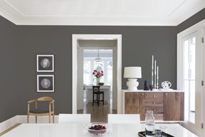 Dining room painted in KM5818-Kettleman
