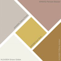 Kelly-Moore color of the year painted living room swatch