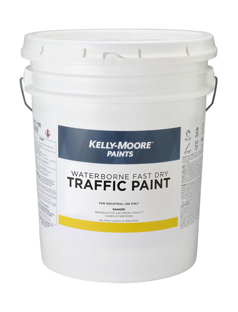Kelly-Moore Paints 1454 Waterborne Fast Dry Traffic Marking Paint Can