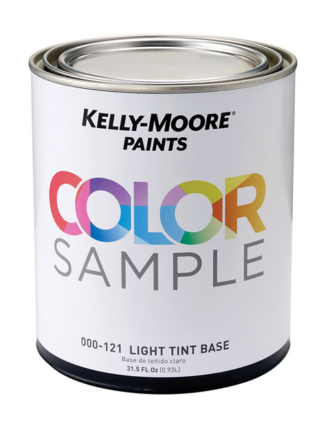 Kelly-Moore Paints Color Sample Interior/Exterior Quart Paint Can